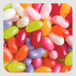 Pattern of jelly beans square sticker