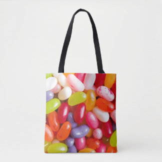 Pattern of jelly beans tote bag