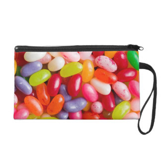 Pattern of jelly beans wristlet purses
