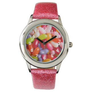 Pattern of jelly beans wristwatch