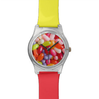 Pattern of jelly beans wristwatches