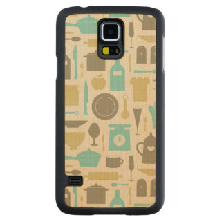 Pattern Of Kitchen Tools Carved Maple Galaxy S5 Case