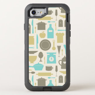 Pattern Of Kitchen Tools OtterBox Defender iPhone 7 Case