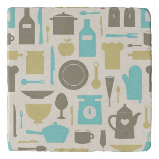 Pattern Of Kitchen Tools Trivet