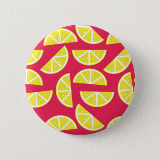 pattern of lemon 6 cm round badge