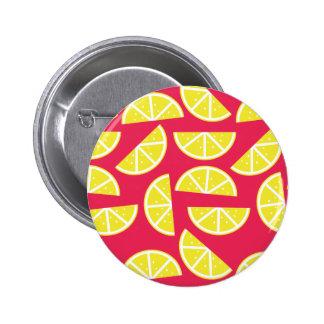pattern of lemon 6 cm round badge