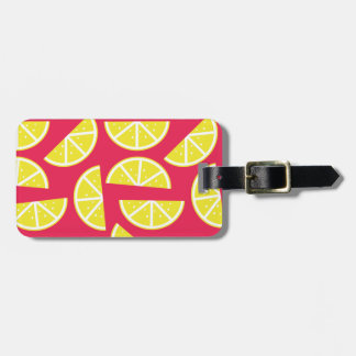 pattern of lemon luggage tag