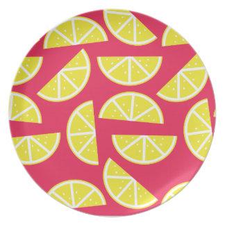 pattern of lemon party plate