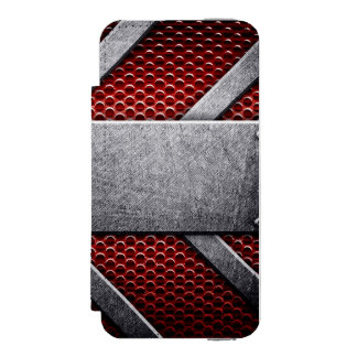 Pattern of metal plate incipio watson™ iPhone 5 wallet case