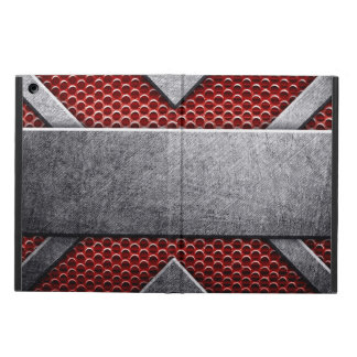 Pattern of metal plate iPad air cover