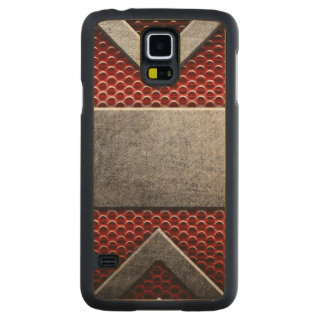 Pattern of metal plate maple galaxy s5 slim case