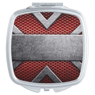 Pattern of metal plate travel mirror