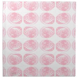 Pattern of Pastel Pink Shells. Napkin