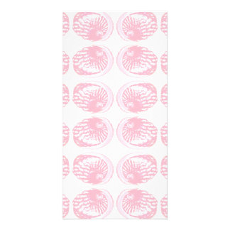 Pattern of Pastel Pink Shells Photo Card Template