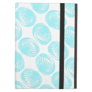 Pattern of Pastel Turquoise Shells. iPad Air Case