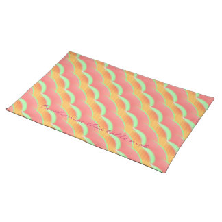 Pattern of Pink Diagonal Stripes Placemat
