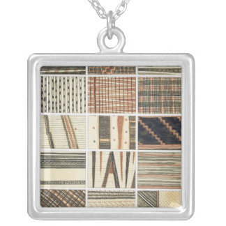 Pattern of Polynesian tapa from Cook's Silver Plated Necklace