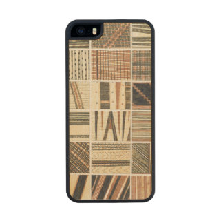 Pattern of Polynesian tapa from Cook's Wood iPhone SE/5/5s Case
