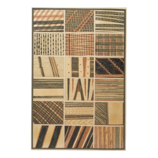 Pattern of Polynesian tapa from Cook's Wood Prints