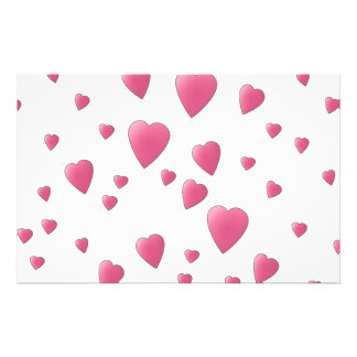 Pattern of Pretty Pink Love Hearts Flyer Design