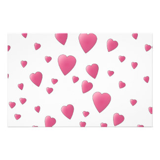 Pattern of Pretty Pink Love Hearts. Stationery