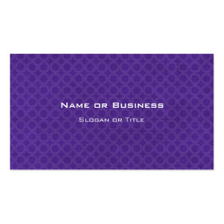 Pattern of Purple Circles Pack Of Standard Business Cards