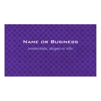 Pattern of Purple Circles Business Card Templates