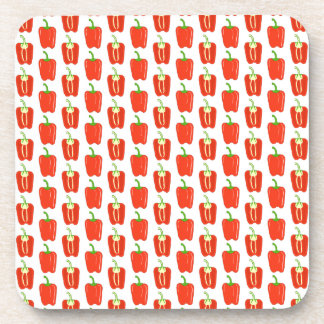 Pattern of Red Peppers. Coaster