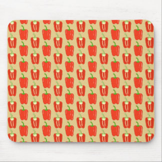 Pattern of Red Peppers. Mousepad