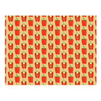 Pattern of Red Peppers. Postcard