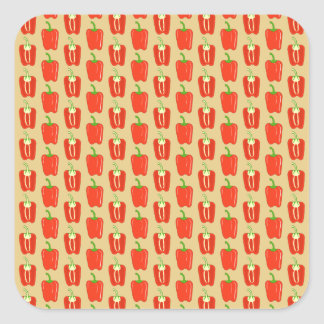 Pattern of Red Peppers. Square Sticker