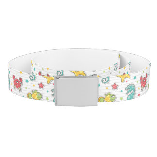pattern of sea creatures belt