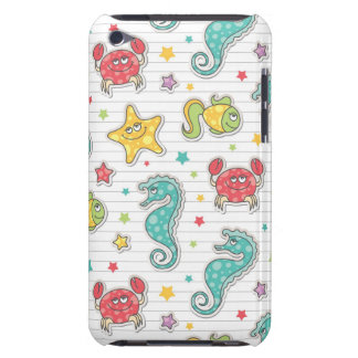 pattern of sea creatures barely there iPod cover