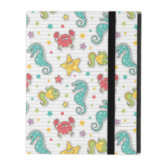 pattern of sea creatures cases for iPad