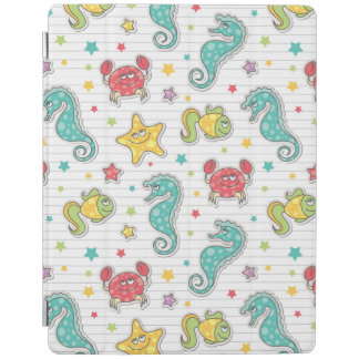 pattern of sea creatures iPad cover