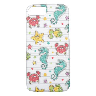 pattern of sea creatures iPhone 8/7 case