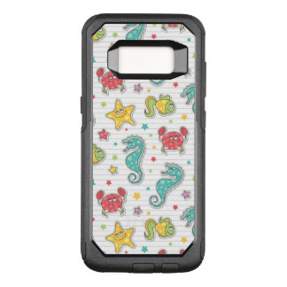 pattern of sea creatures OtterBox commuter samsung galaxy s8 case