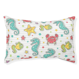 pattern of sea creatures pet bed