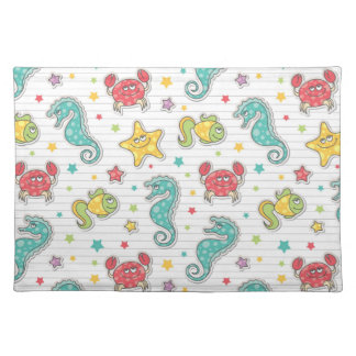pattern of sea creatures placemat
