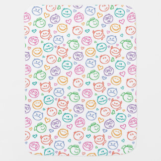 pattern of smiles baby blanket