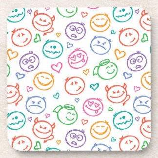 pattern of smiles beverage coaster