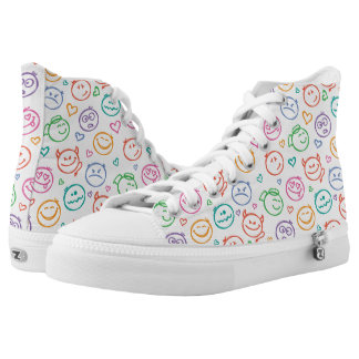 pattern of smiles high tops