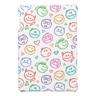pattern of smiles iPad mini covers