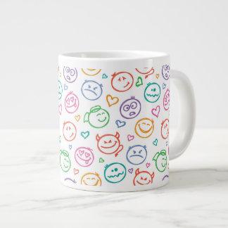 pattern of smiles large coffee mug