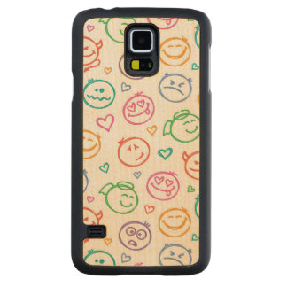 pattern of smiles maple galaxy s5 case
