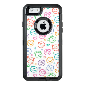 pattern of smiles OtterBox iPhone 6/6s case