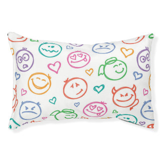 pattern of smiles pet bed