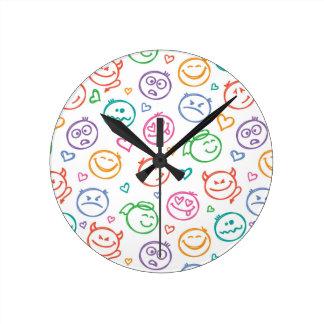 pattern of smiles round clock