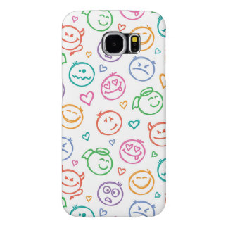 pattern of smiles samsung galaxy s6 cases