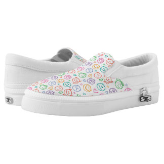 pattern of smiles Slip-On shoes